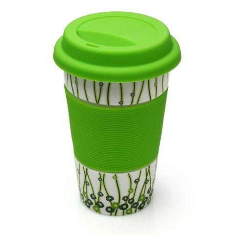 Стакан фарфоровый с крышкой Green