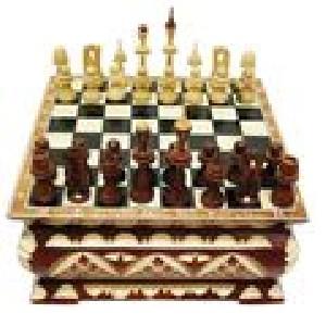 Шахматы резные Ларец № 2