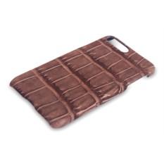 Чехол на iPhone 7 из кожи крокодила (цвет - коричневый)