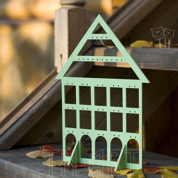 Подставка Дом нежно-зеленый