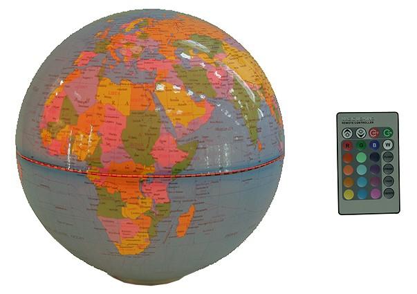 Настольный сувенир Глобус с подсветкой, диаметр 25 см