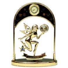 Декоративная фигурка с часами - знак Зодиака Дева
