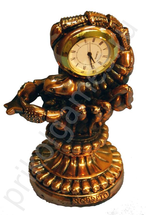 Статуэтка с часами Скорпион