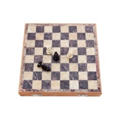 Шахматы из натурального камня 25х25 см