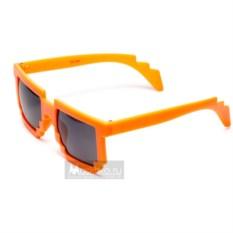 Оранжевые пиксельные очки