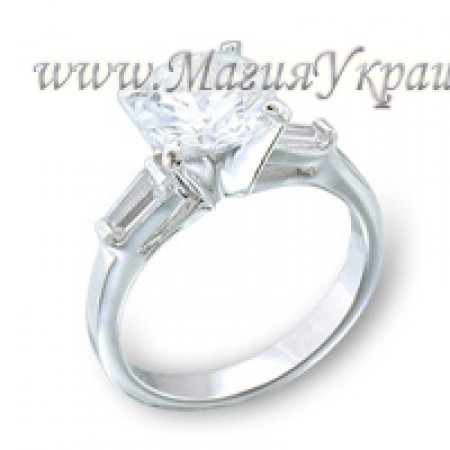 Кольцо Тонкое с кристаллами Swarovski