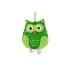 Интерьерная подвеска «Зеленая сова»