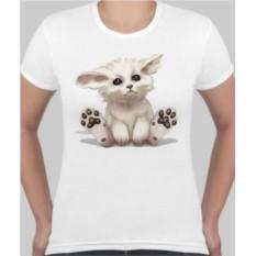 Женская футболка Котик, пяточки