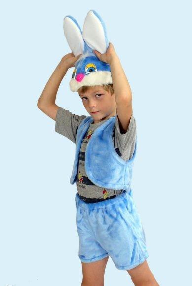 Карнавальный костюм Заяц (головной убор, жилет, шорты)