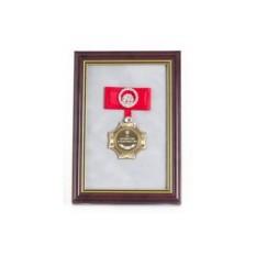 Орден в багете За мужество в замужестве! (красный бант)