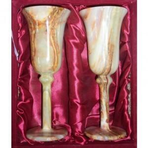 Набор для шампанского Два фужера из оникса