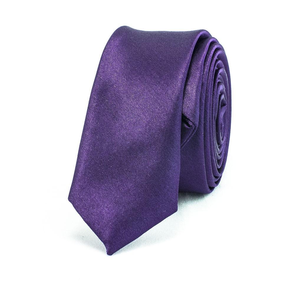 Супер узкий галстук (фиолетовый)