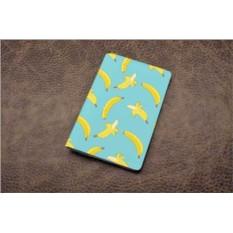 Кожаная обложка для паспорта (белый, Бананы)