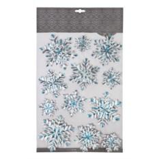 Набор новогодних наклеек Сияние снежинок