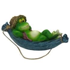 Садовая навесная фигура Лягушка в гамаке