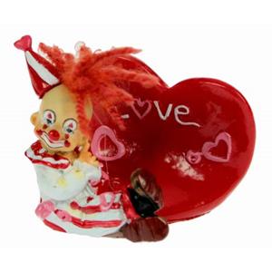 Подставка под визитку «Клоун-Валентинка» 7*6см