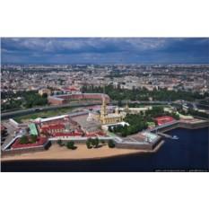 Полет на вертолете над Санкт-Петербургом