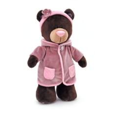 Мягкая игрушка Медведь-девочка Milk, стоячая в пальто, 35 см, Orange Toys
