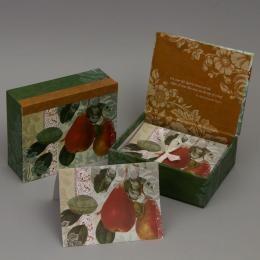 Набор дизайнерских открыток «Груша» в подарочной коробке