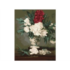 Картины по номерам «Ваза с пионами»
