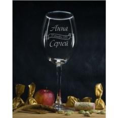 Именной бокал для вина Влюбленные