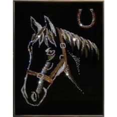 Картина с кристаллами Swarovski Лошадь и подкова