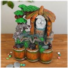 Настольный декоративный фонтан с подсветкой На водопое