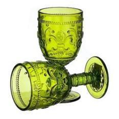 Набор из 6 бокалов из зеленого стекла Greenish