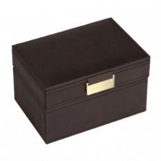 Темно-коричневая шкатулка для драгоценностей LC Designs Co