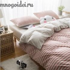 Комплект трикотажного постельного белья Терракотовая осень