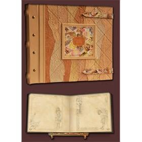 Семейный фотоальбом в стиле 19 века, вставка с принтом