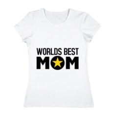Женская футболка из хлопка Worlds best mom