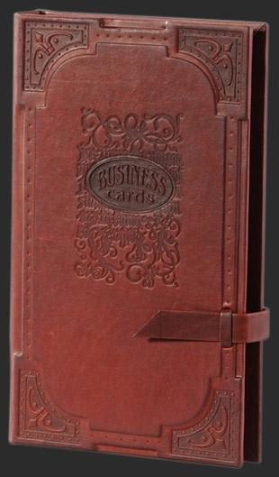 Кожаная визитница Almanac, 4-х секционная