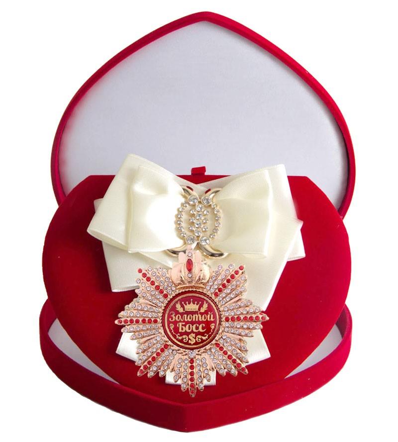Большой Орден с белой лентой Золотой босс