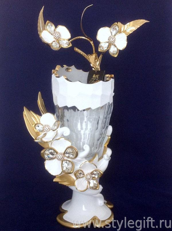 Ваза Белая орхидея