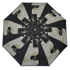 Черно-серый женский зонт Ferre Milano