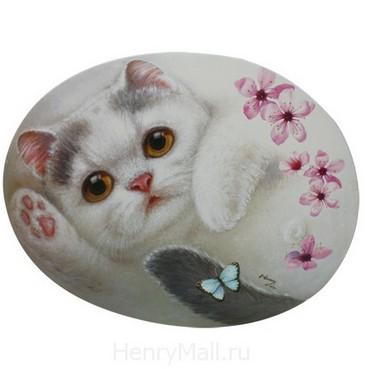 Салфетка под тарелку и приборы Кошка Флауэр