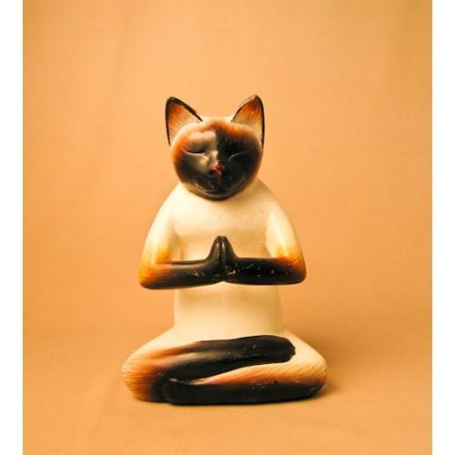 Кот йога декор пламенный