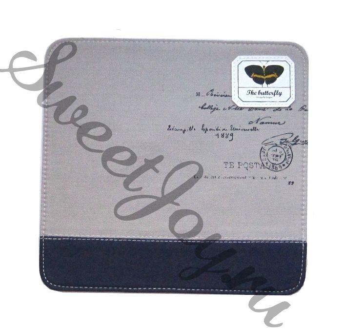 Коврик для мышки Butterfly Letter Grey