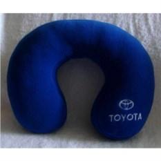 Синяя подушка под шею Toyota