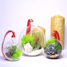 Набор елочных шаров 3 штуки