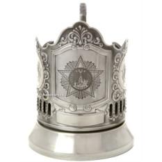 Никелированный подстаканник с гравировкой Орден Звезда