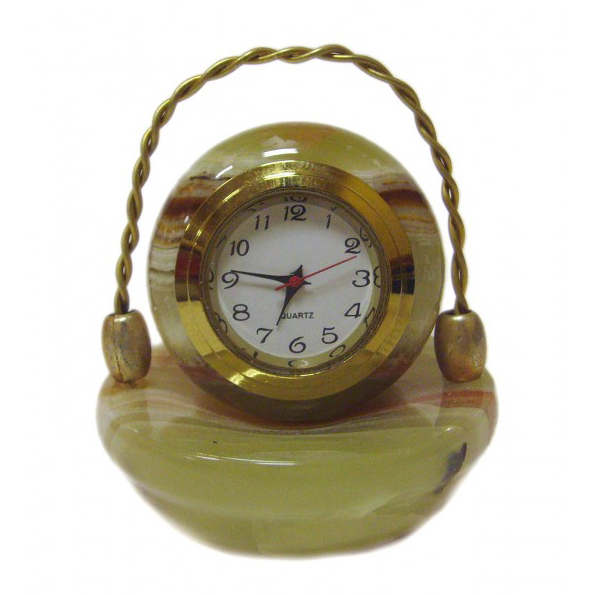 Часы-корзина из оникса
