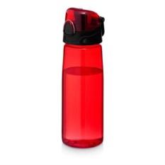 Прозрачная красная спортивная бутылка Capri