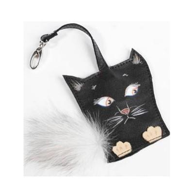 Ключница карманная Черный кот