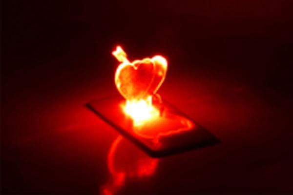 Карманная свечка Влюбленные сердца