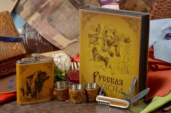 Подарочный набор в книге Русская охота. Медведь