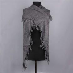 Серый треугольный теплый шарф Basile
