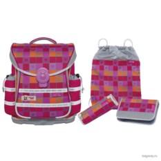 Серо-розовый школьный ранец McNeill Ergo Light Plus