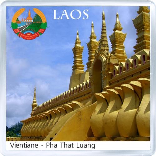 Магнит на холодильник: Лаос. Храм Пха Тхат Луанг